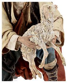 Berger à genoux avec mouton 30 cm Angela Tripi s4