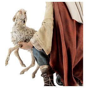 Berger à genoux avec mouton 30 cm Angela Tripi s6