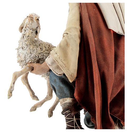 Berger à genoux avec mouton 30 cm Angela Tripi 6
