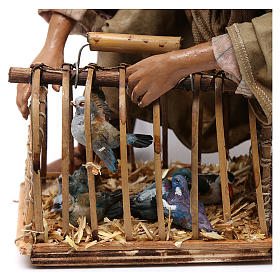 Venditore di uccelli con gabbia cm 30 Angela Tripi s4