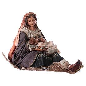 Maria con bambino sulle gambe 30 cm Angela Tripi s4
