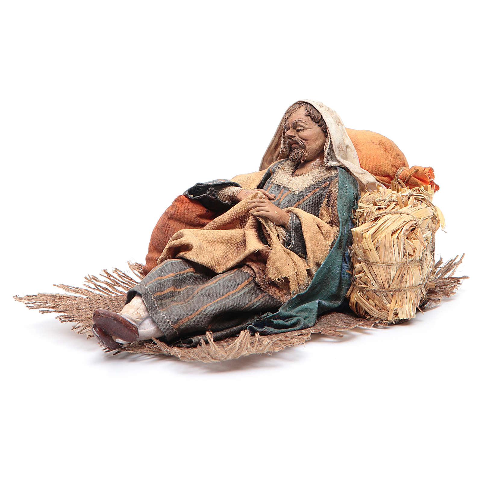 Pastore dormiente seduto 18 cm Angela Tripi 4