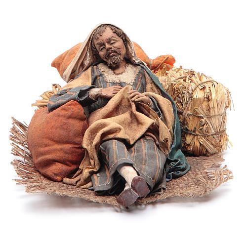 Pastore dormiente seduto 18 cm Angela Tripi 1