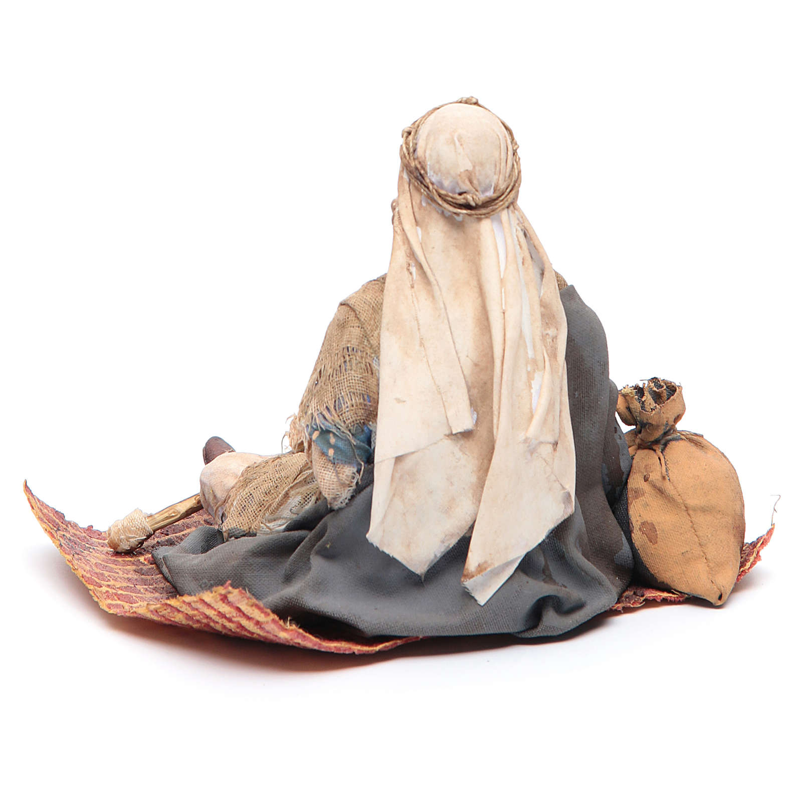 Mendicante storpio seduto 18 cm Angela Tripi 4
