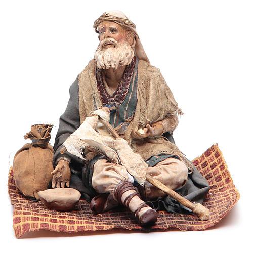 Mendicante storpio seduto 18 cm Angela Tripi 1