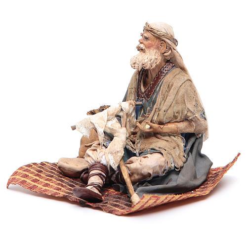 Mendicante storpio seduto 18 cm Angela Tripi 2