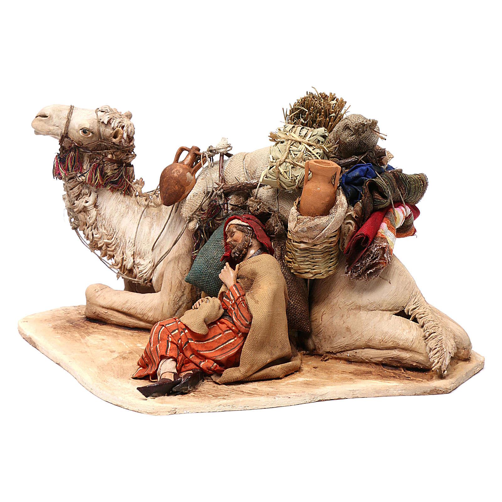 Cammello accovacciato con dormiente 18 cm Angela Tripi 4