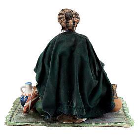 Femme maure assise avec vaisselle 18 cm Angela Tripi s8
