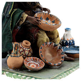Moor Woman sitting with pottery 18cm Angela Tripi s7