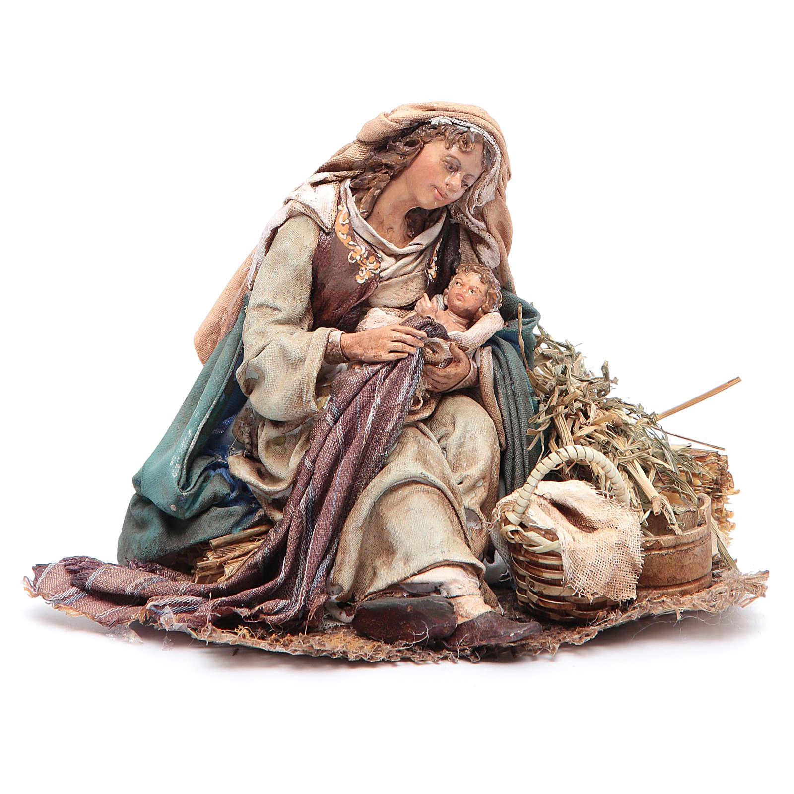 Virgen María con Niño en brazos 18 cm Angela Tripi 4