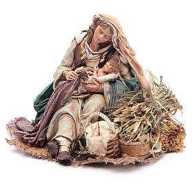 Virgen María con Niño en brazos 18 cm Angela Tripi s2
