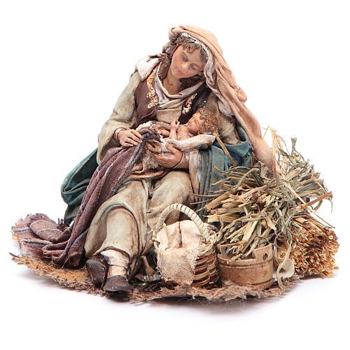 Virgen María con Niño en brazos 18 cm Angela Tripi 2