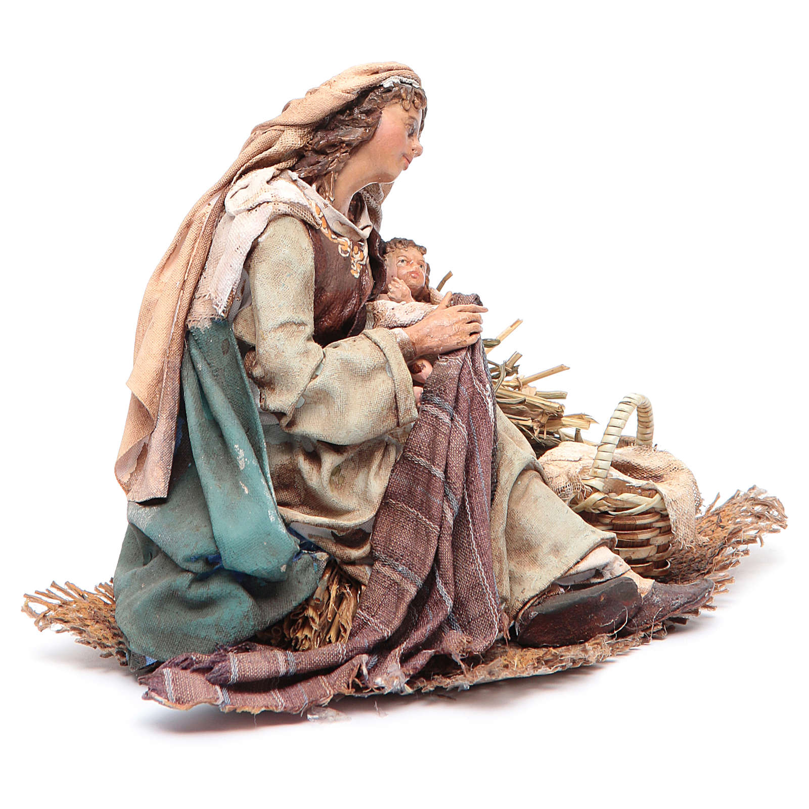 Maria con bambino in braccio 18 cm Angela Tripi 4