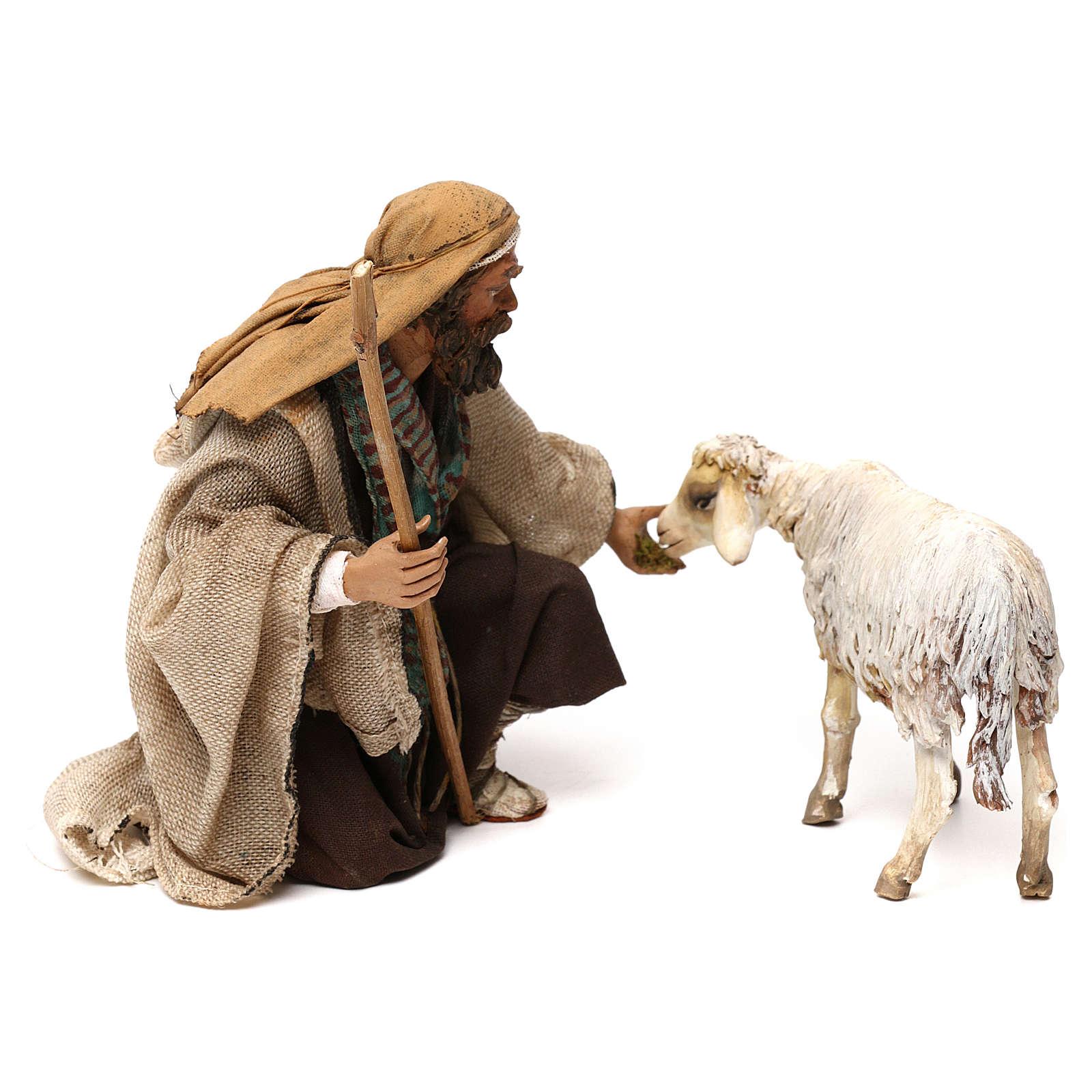 Kneeling Shepherd 18cm Angela Tripi 4