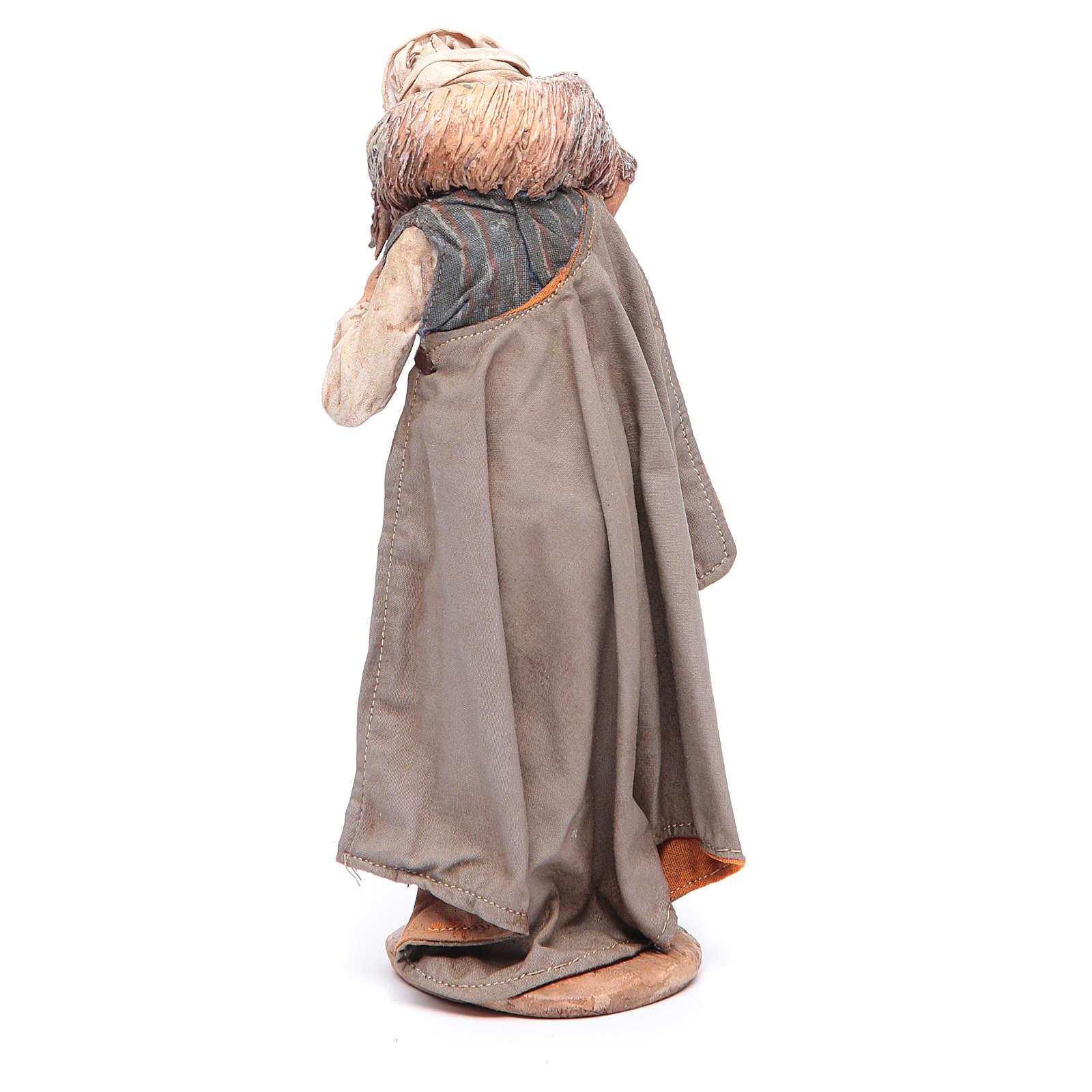 Berger avec mouton sur les épaules 18 cm Angela Tripi 4