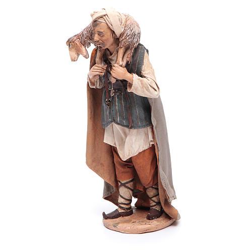 Pastore con pecora sulle spalle 18 cm Angela Tripi 2