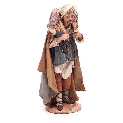 Pastore con pecora sulle spalle 18 cm Angela Tripi 3