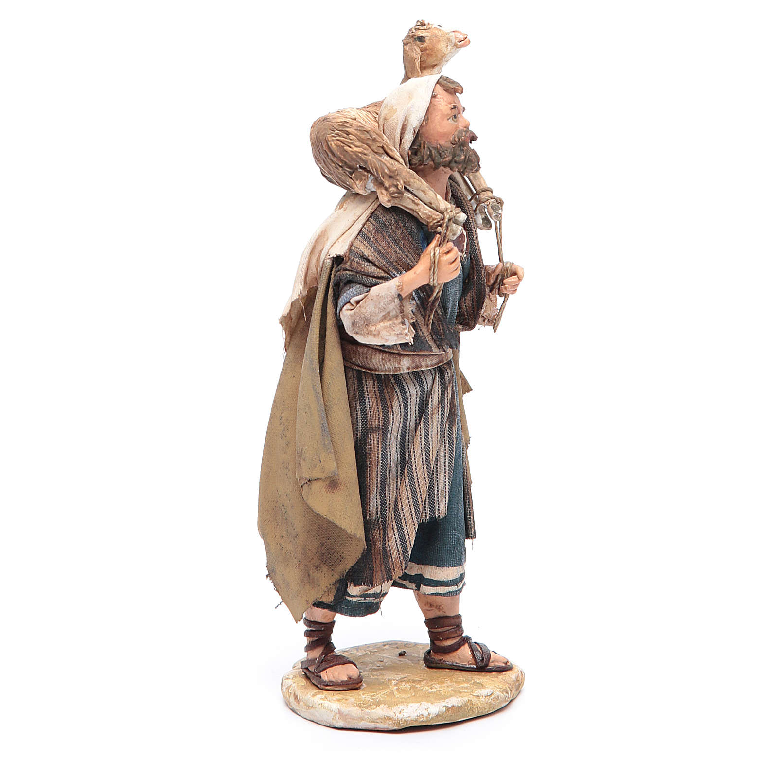 Pastore con pecora in spalla 13 cm Angela Tripi 4