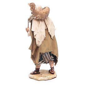 Pastore con pecora in spalla 13 cm Angela Tripi s4