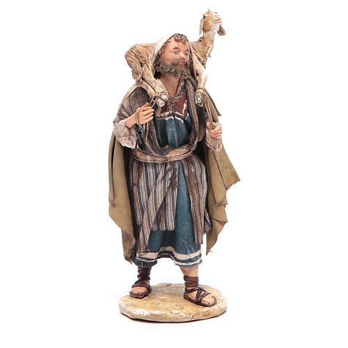 Pastore con pecora in spalla 13 cm Angela Tripi 1