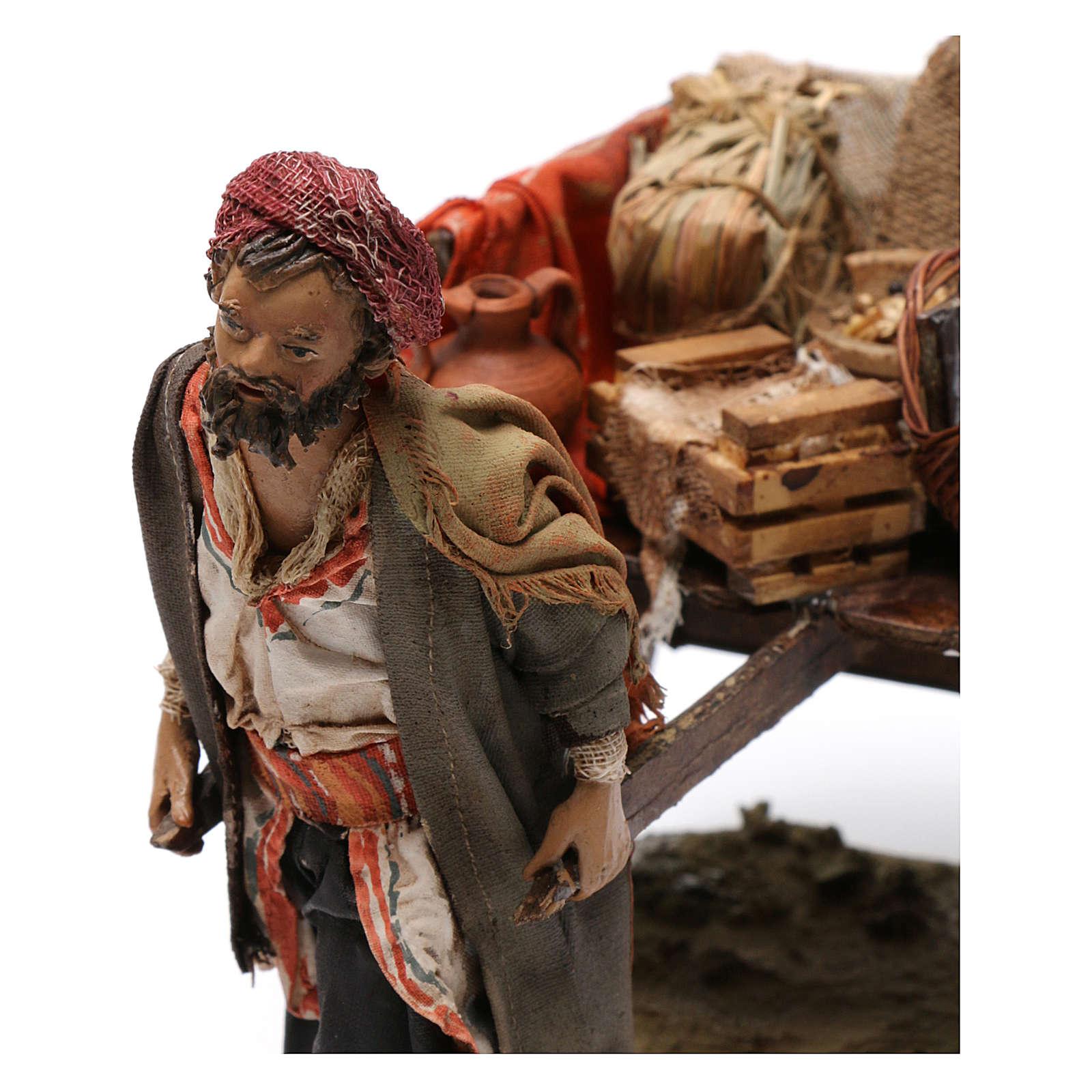 Pastore con carretto 13 cm Angela Tripi 4