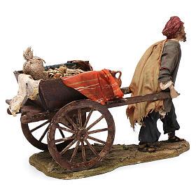 Pastore con carretto 13 cm Angela Tripi s4
