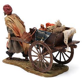 Pastore con carretto 13 cm Angela Tripi s5