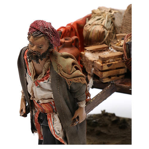 Pastore con carretto 13 cm Angela Tripi 2