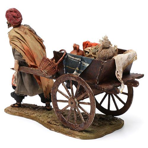 Pastore con carretto 13 cm Angela Tripi 5
