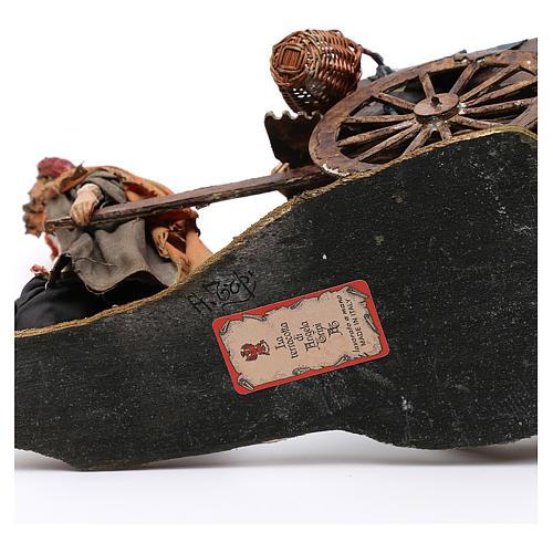 Pastore con carretto 13 cm Angela Tripi 6