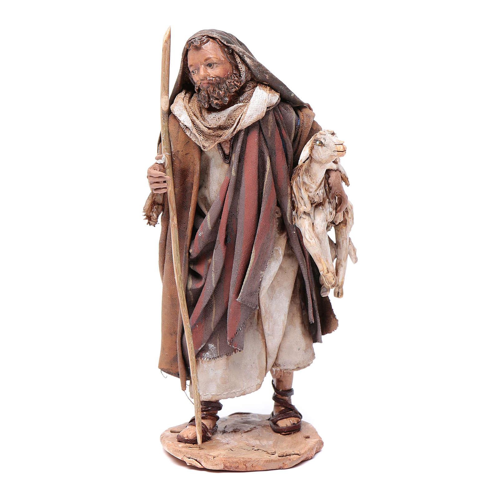 Pastore pecora in braccio 13 cm Angela Tripi 4