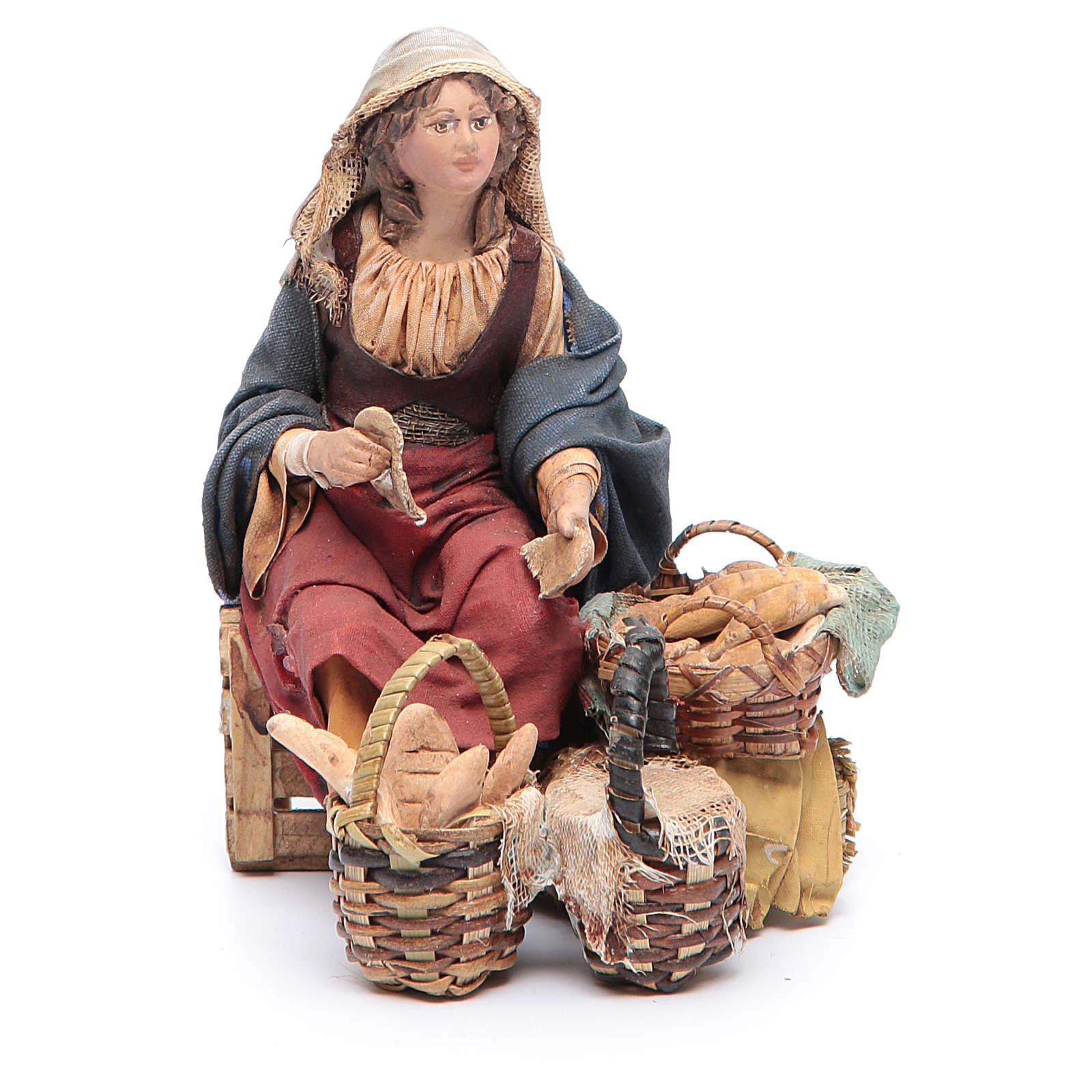 Venditrice di pane 13 cm Angela Tripi 4
