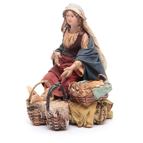 Venditrice di pane 13 cm Angela Tripi 2