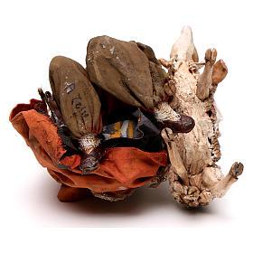 Pastore in ginocchio con pecore 13 cm Angela Tripi s5
