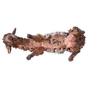 Chèvre blanche marron tête baissée 13 cm Angela Tripi s4
