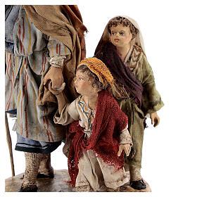 Pastor con dos chicos 13 cm belén Angela Tripi s4