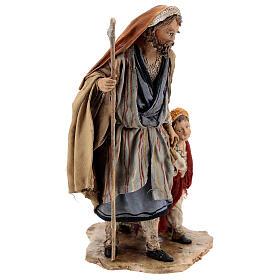 Pastor con dos chicos 13 cm belén Angela Tripi s5