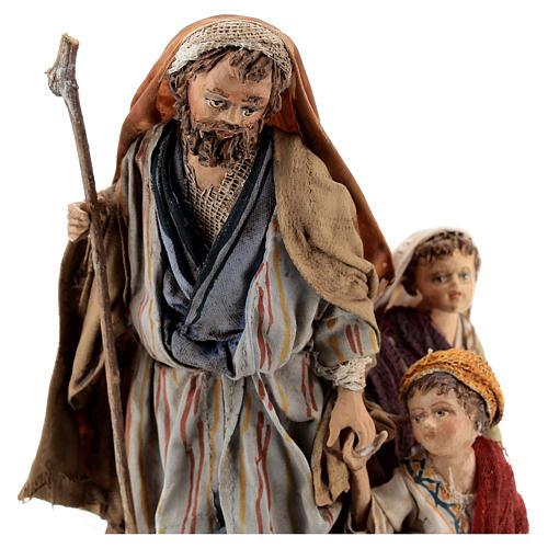 Pastor con dos chicos 13 cm belén Angela Tripi 2