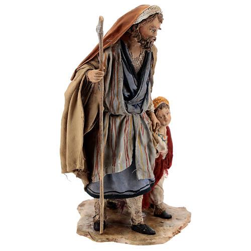 Pastor con dos chicos 13 cm belén Angela Tripi 5