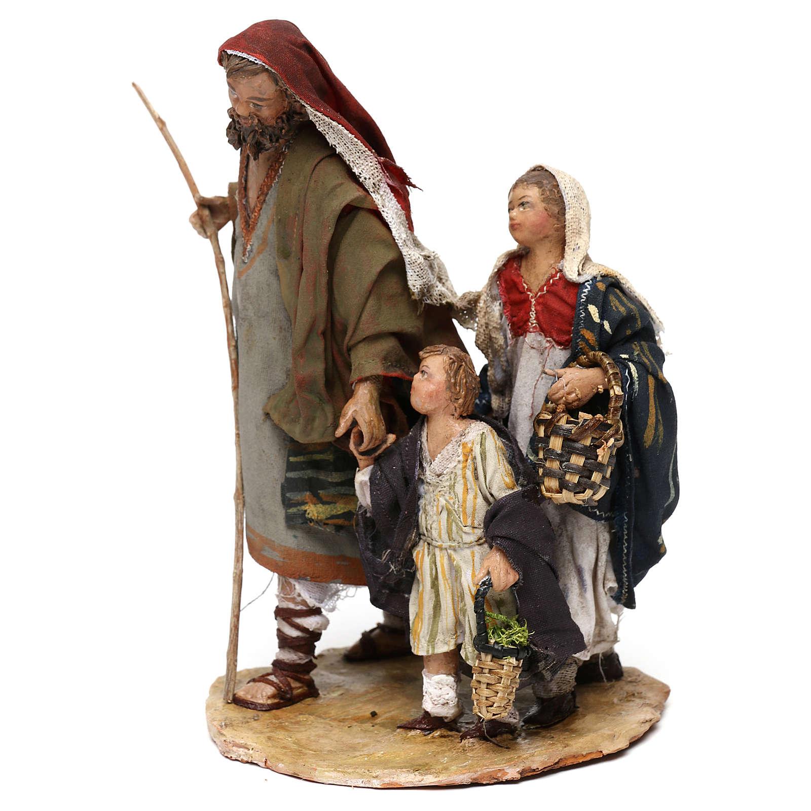 Berger avec deux garçons 13 cm crèche Angela Tripi 4