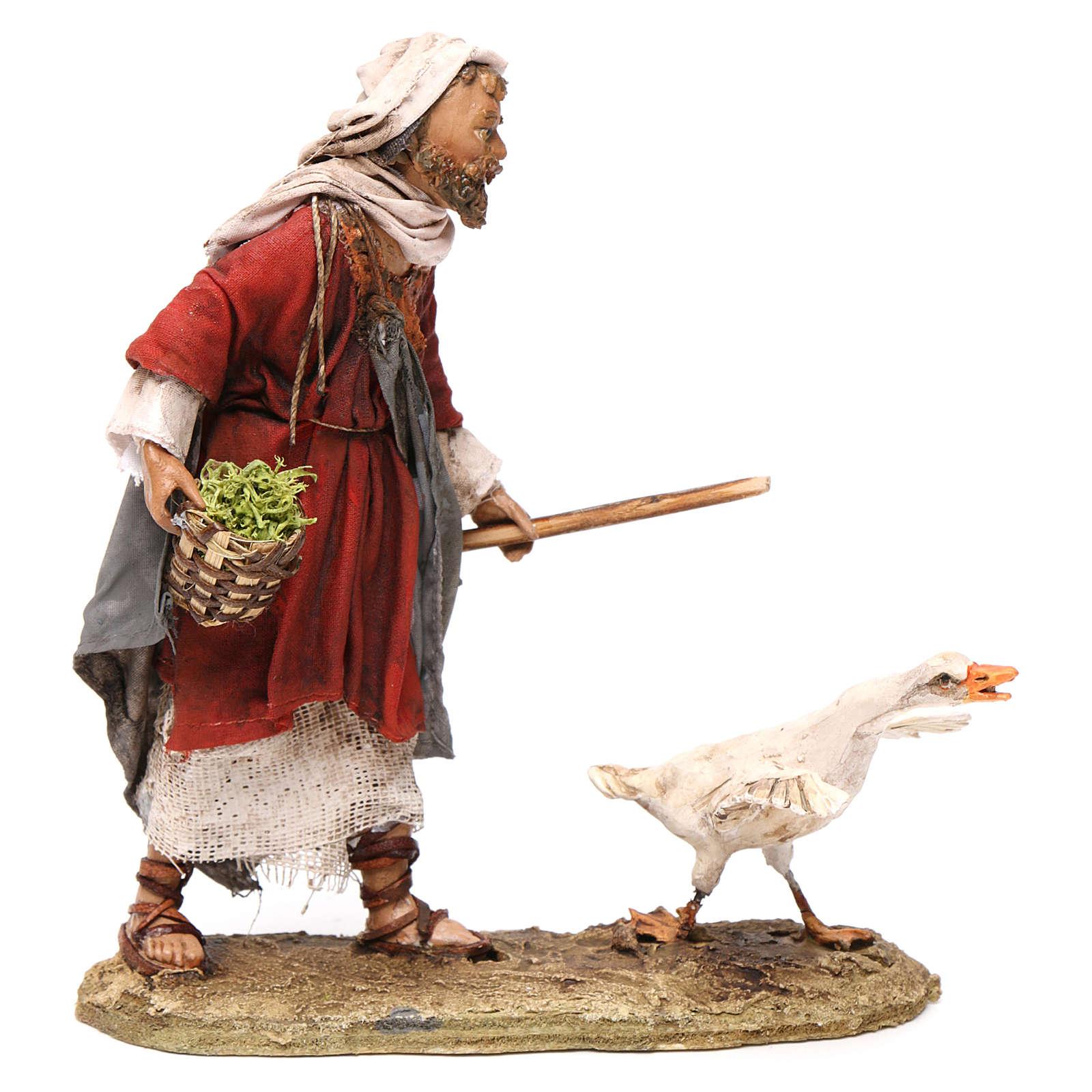Pastor con ganso 13 cm belén Angela Tripi 4