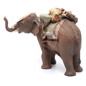 Éléphant avec chargement 13 cm crèche Angela Tripi s2