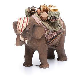 Éléphant avec chargement 13 cm crèche Angela Tripi s4