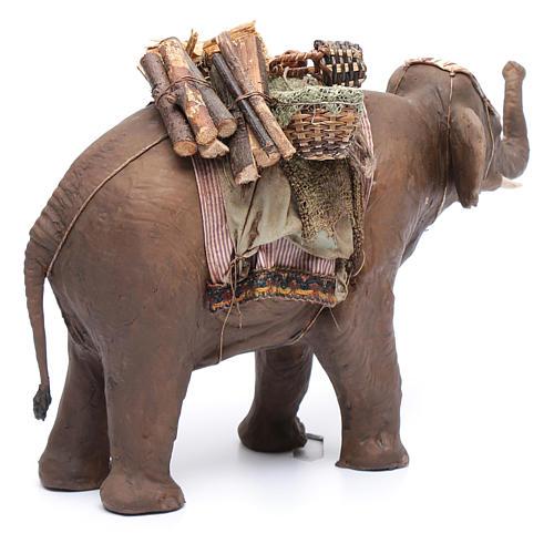 Éléphant avec chargement 13 cm crèche Angela Tripi 3
