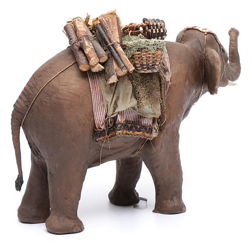 Elefante con carico 13 cm presepe Angela Tripi 3