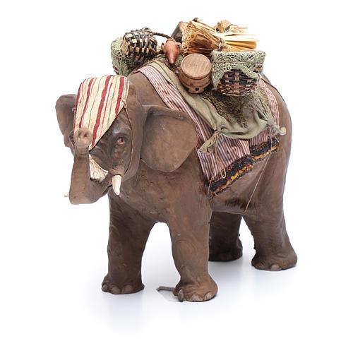 Elefante con carico 13 cm presepe Angela Tripi 4