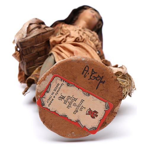 Mujer con cesta de semillas 13 cm belén Angela Tripi 6