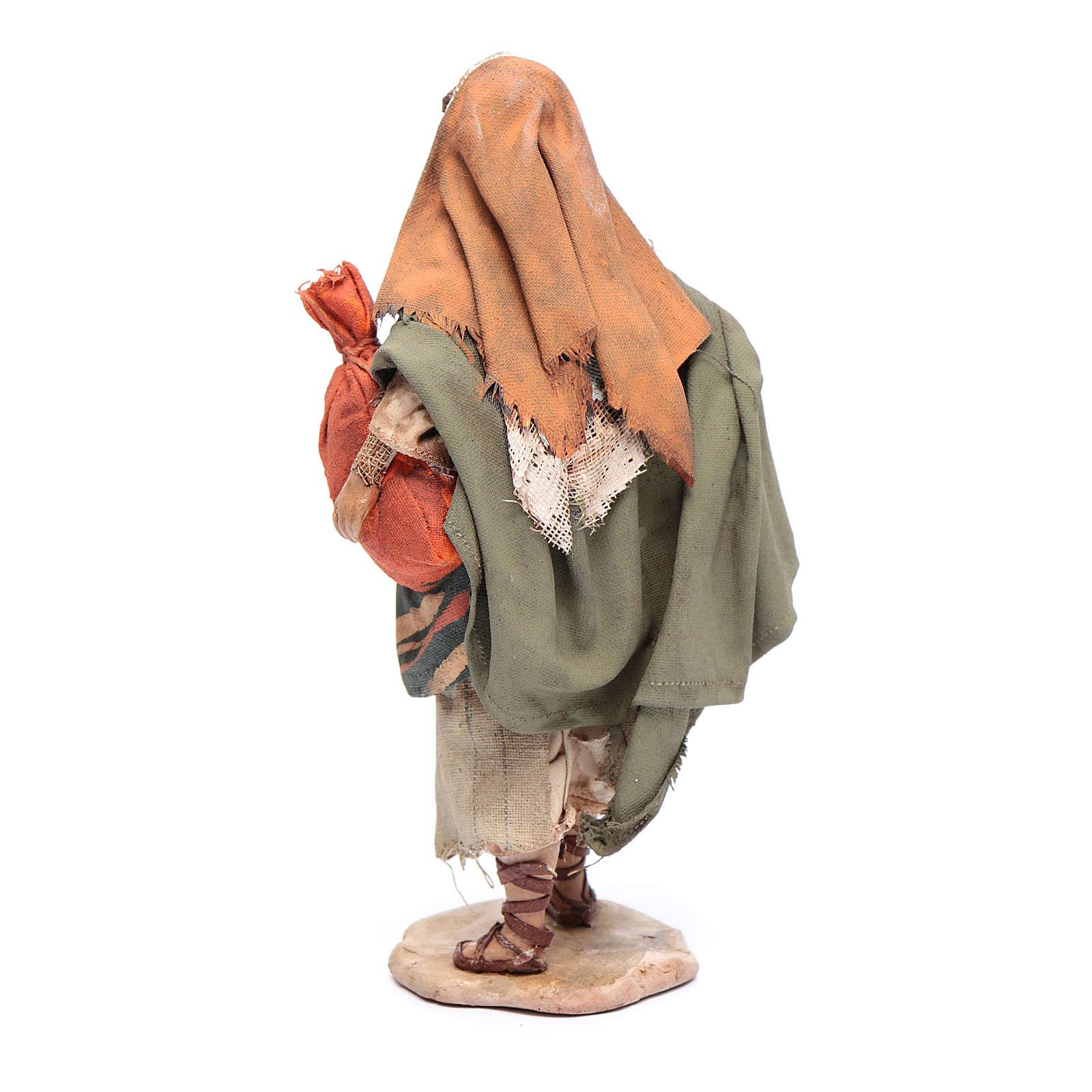 Pastore con sacchi 13 cm presepe Angela Tripi 4