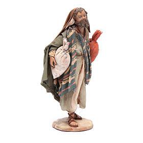 Pastore con sacchi 13 cm presepe Angela Tripi s4