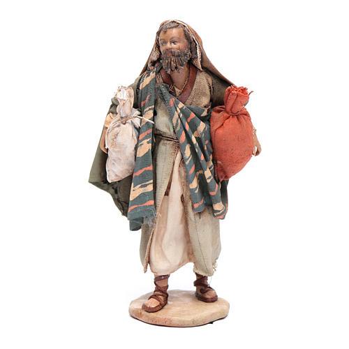 Pastore con sacchi 13 cm presepe Angela Tripi 1